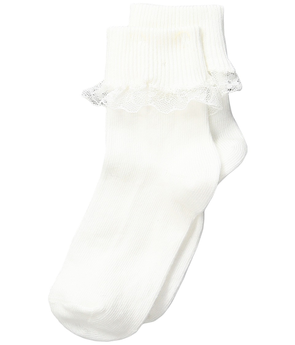 Falke - Romantic Lace Socks (Infant) (White) Women's Crew Cut Socks Shoes