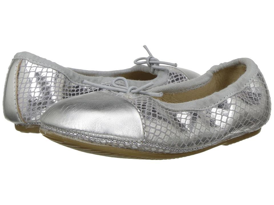Old Soles - Electric Flat (Toddler/Little Kid) (Lavender Snake/Silver) Girls Shoes
