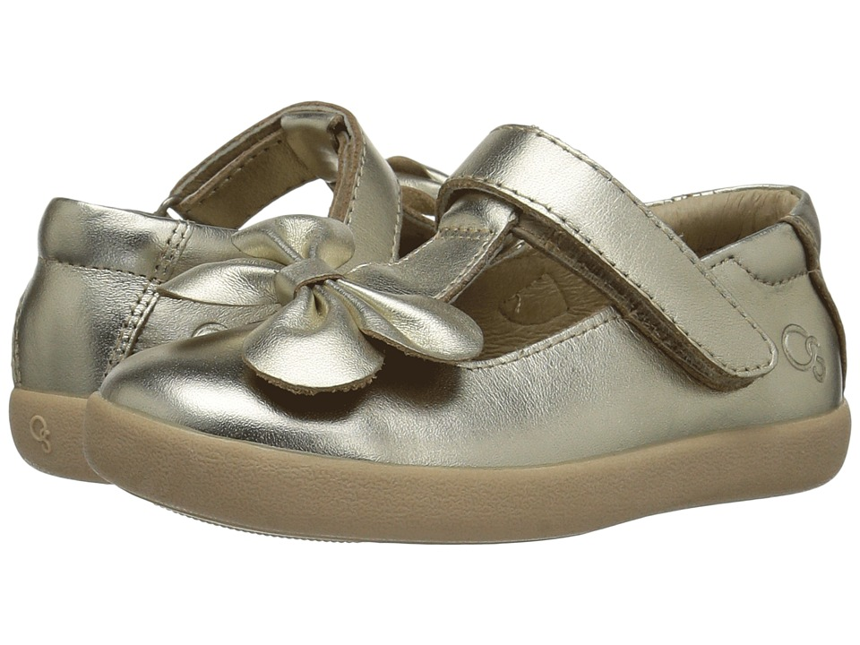 Old Soles - T-Bow (Toddler/Little Kid) (Gold) Girl's Shoes