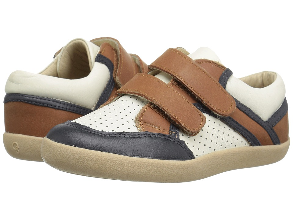 Old Soles - Crest Shoe (Toddler/Little Kid) (Tan/Navy/White) Boy's Shoes