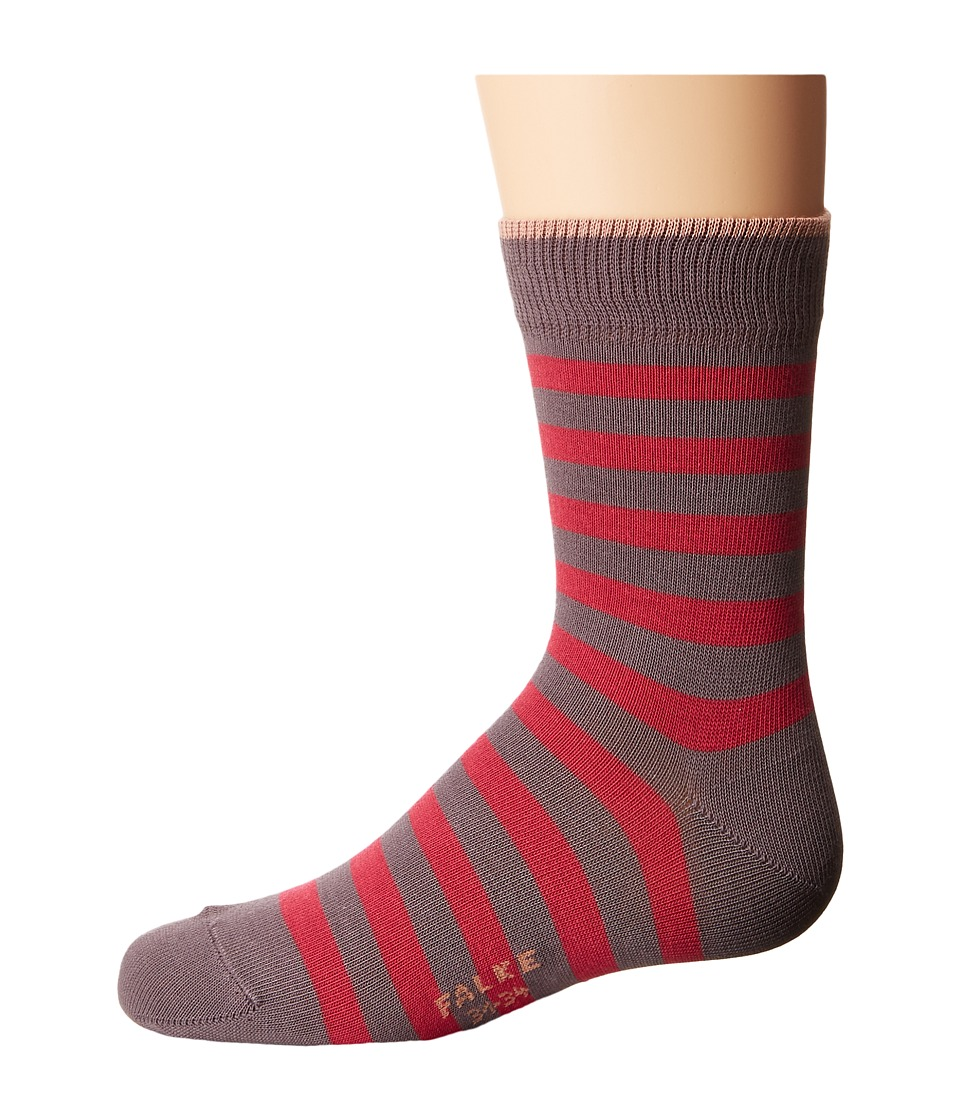 Falke - Double Stripe Socks (Toddler/Little Kid/Big Kid) (Greyish Plum) Crew Cut Socks Shoes