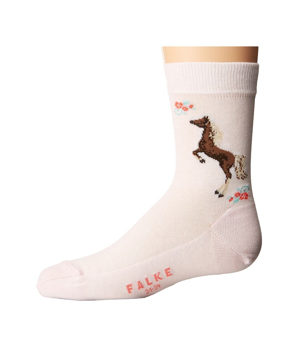 Falke - Horse Socks (Toddler/Little Kid/Big Kid) (Powder Rose) Crew Cut Socks Shoes