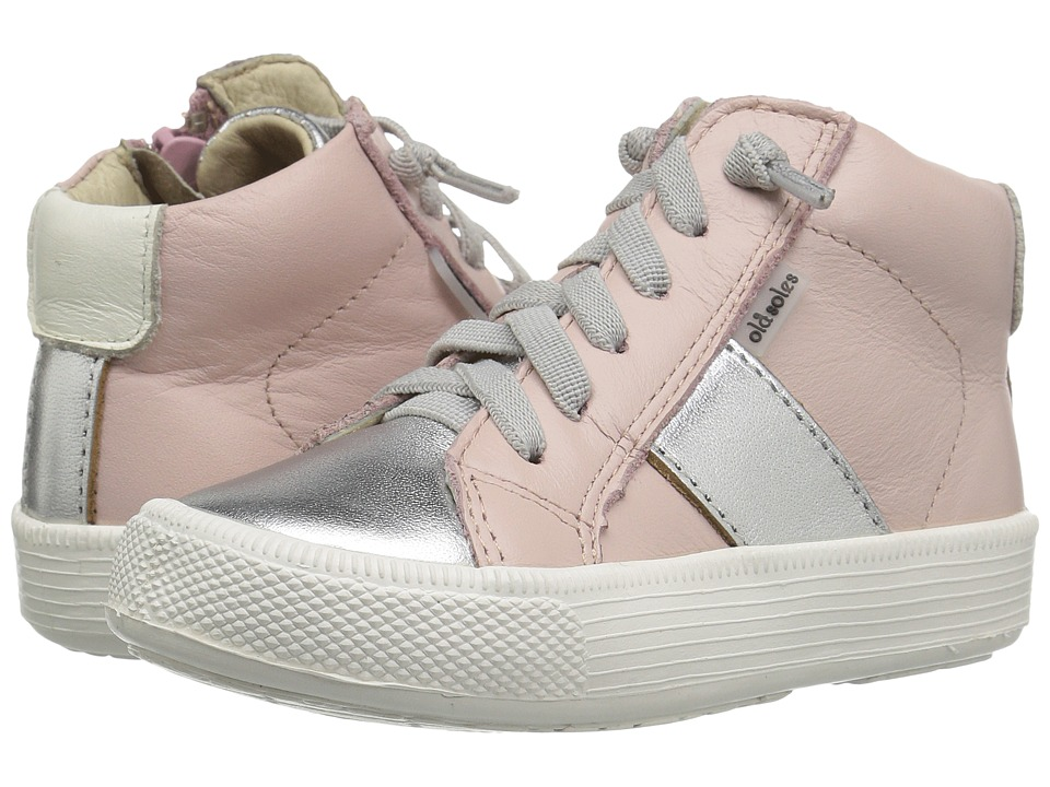 Old Soles - Top Shelf (Toddler/Little Kid) (Powder Pink/Silver/White) Girl's Shoes