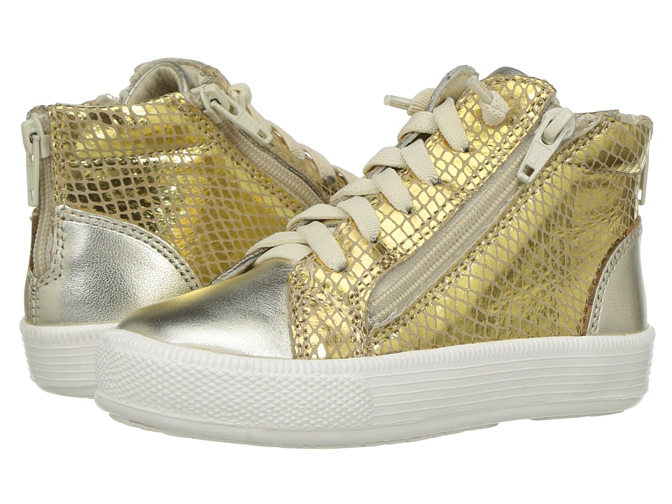 Old Soles - Tri-Zip (Toddler/Little Kid) (Gold Snake/Gold) Girl's Shoes