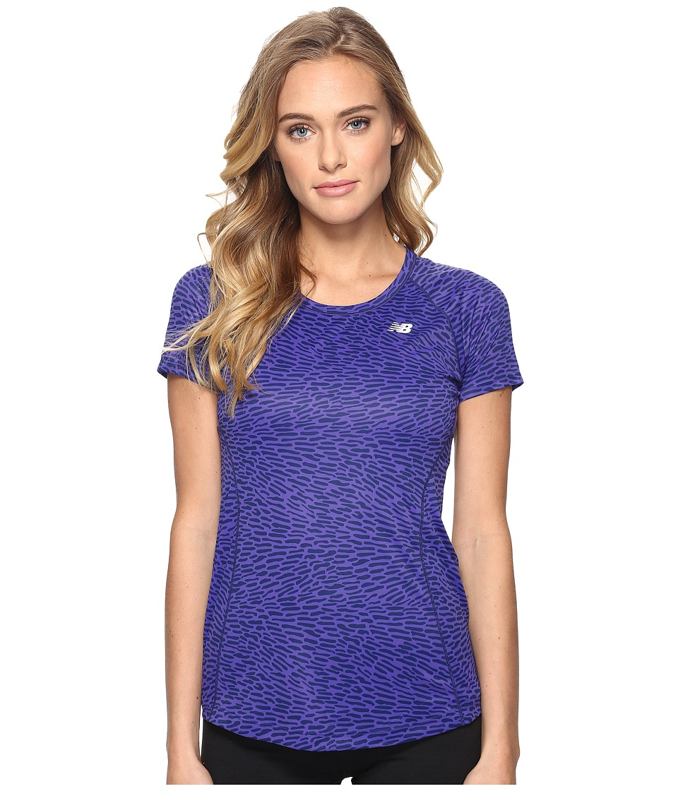New Balance - NB Ice Short Sleeve (Titan/Multi) Women's Clothing