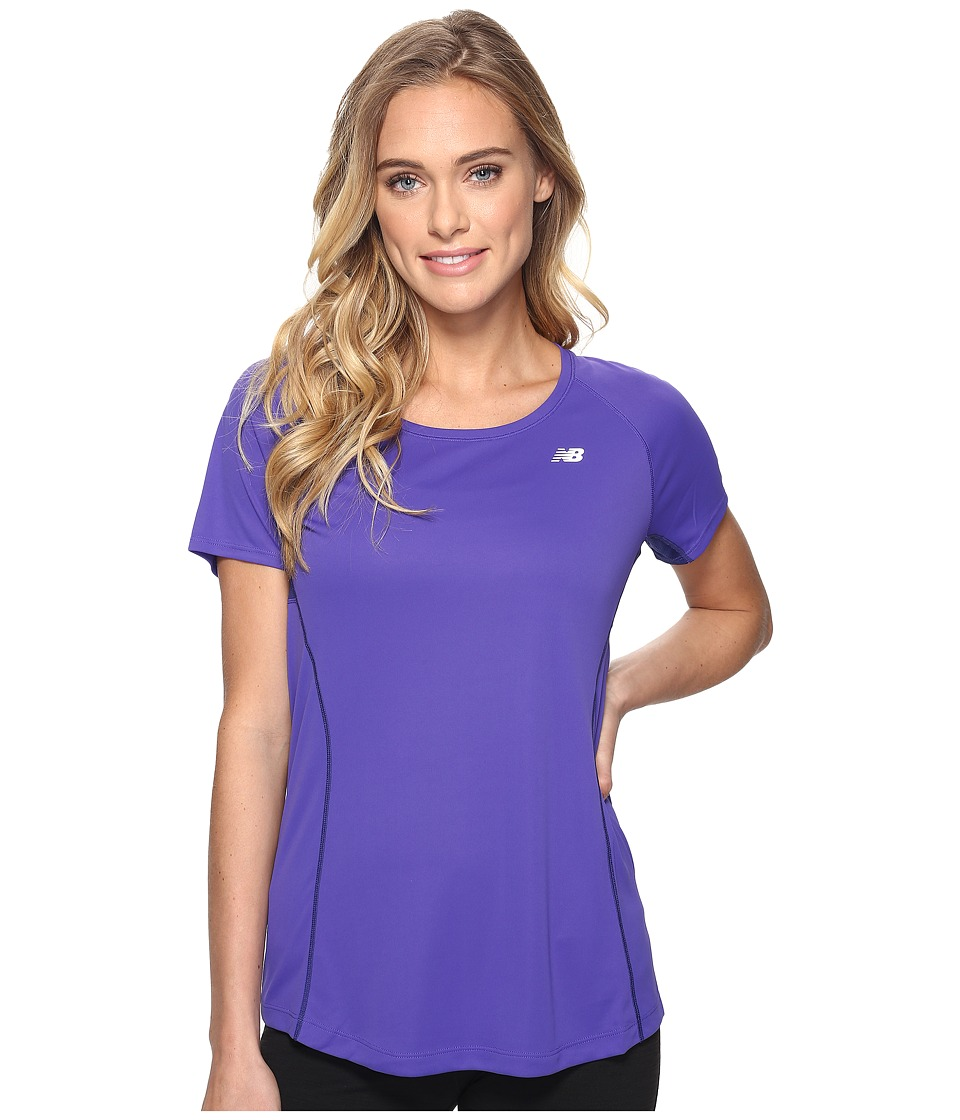 New Balance - NB Ice Short Sleeve (Titan) Women's Clothing