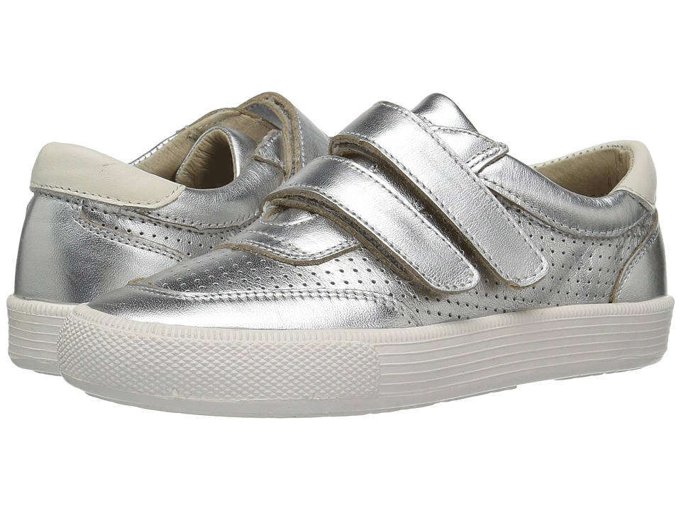 Old Soles - R-Racer (Toddler/Little Kid) (Silver/White) Boy's Shoes