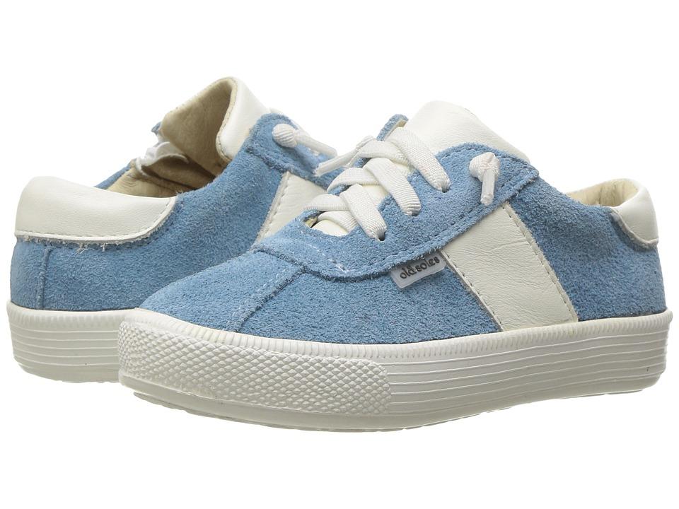 Old Soles - Vintage Runner (Toddler/Little Kid) (Blue Sky Suede/White) Boy's Shoes