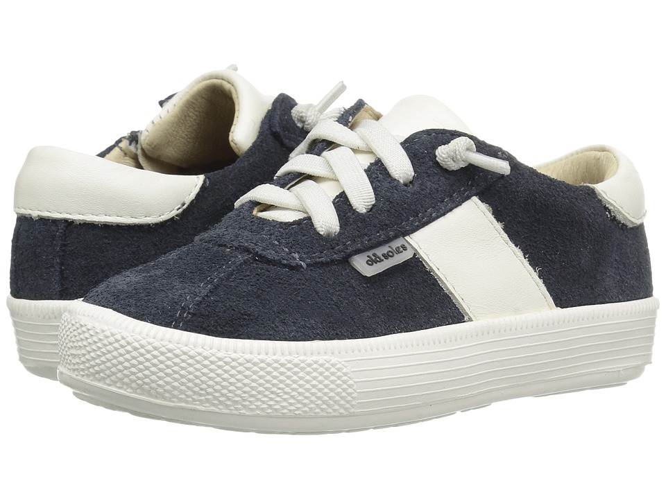 Old Soles - Vintage Runner (Toddler/Little Kid) (Navy Suede/White) Boy's Shoes