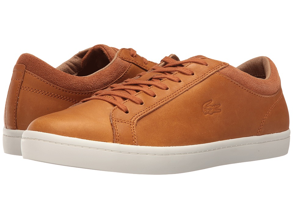 Lacoste - Straightset CRF (Tan) Men's Shoes