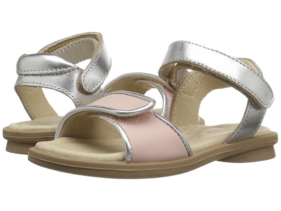 Old Soles - Martini Sandal (Toddler/Little Kid) (Powder Pink/Silver) Girls Shoes