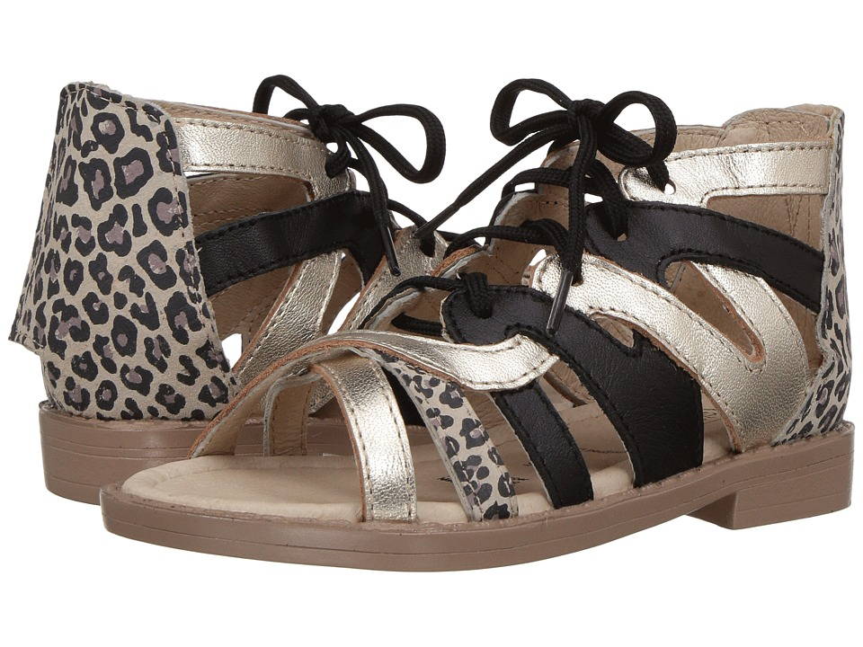 Old Soles - Swirl Sandal (Toddler/Little Kid) (Cat/Gold/Black) Girls Shoes