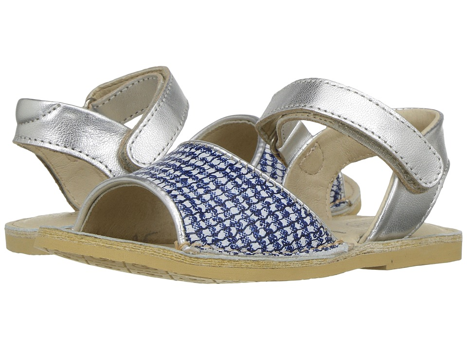 Image of Old Soles - Amalifi Sandal (Toddler/Little Kid) (Blue/Bianco/Silver) Girls Shoes