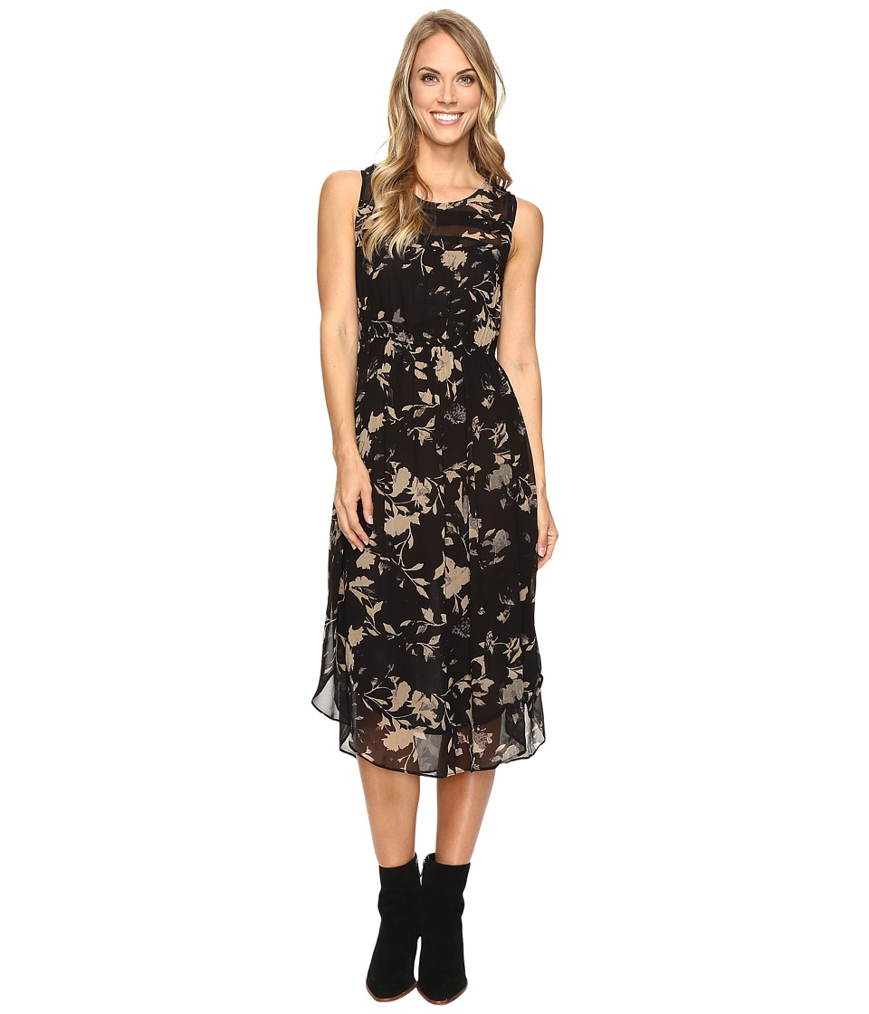 Lucky Brand - Heather Floral Dress (Black Multi) Women's Dress