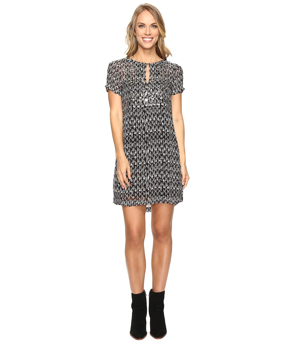 Lucky Brand - Embellished Shift Dress (Black Multi) Women's Dress