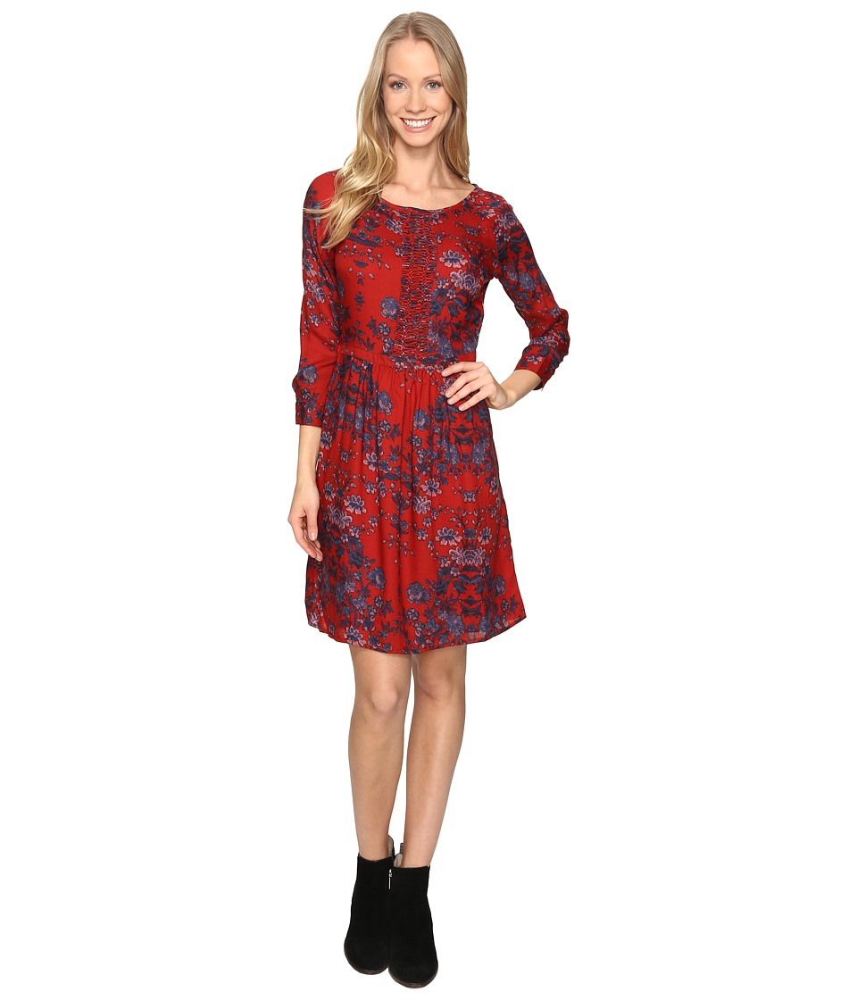 Lucky Brand Macrame Dress (Red Multi) Women