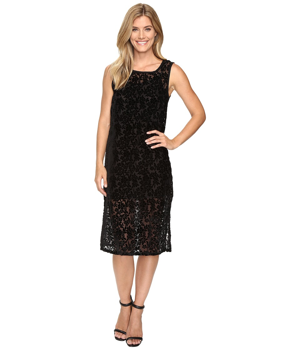 Lucky Brand - Velvet Midi Dress (Black) Women's Dress