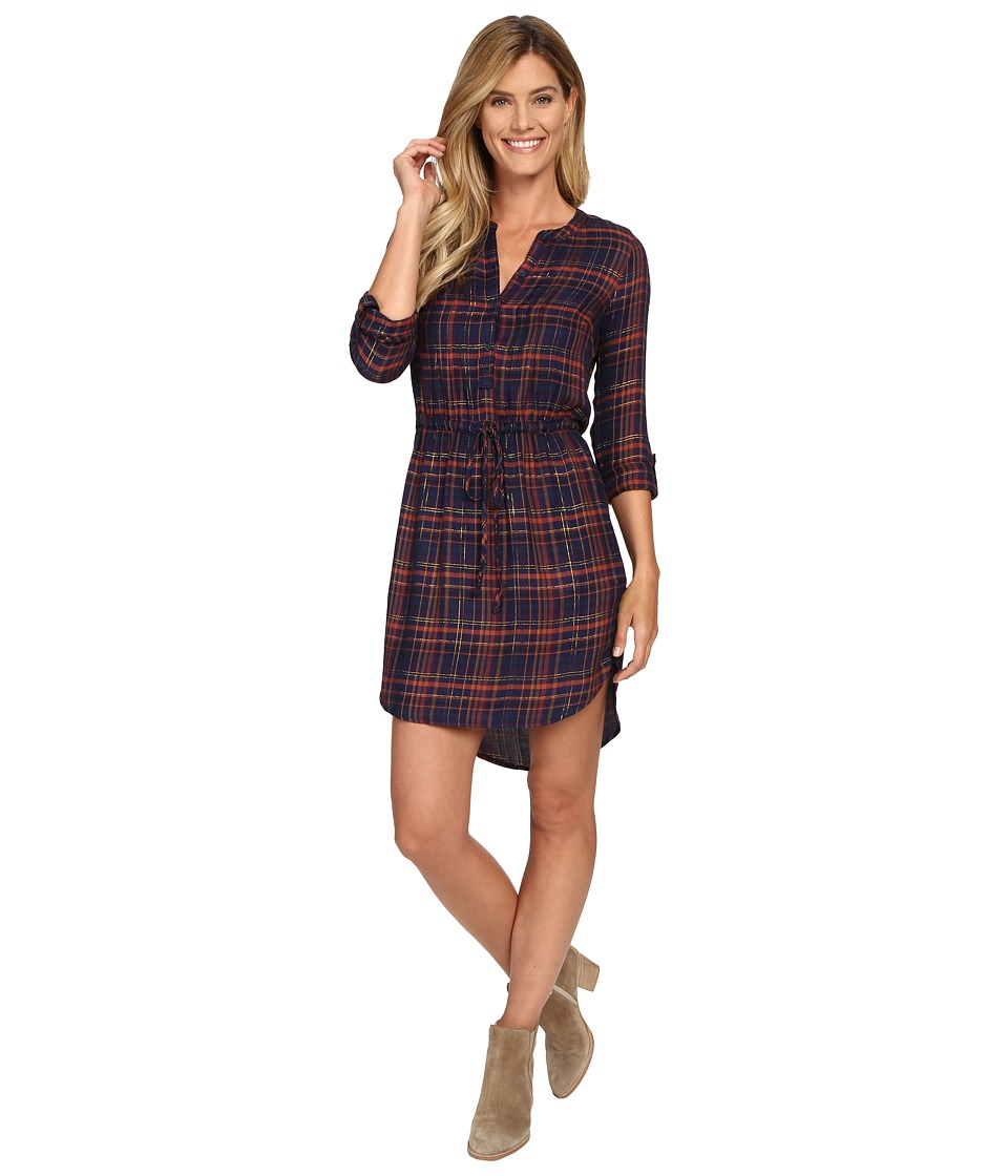 Lucky Brand - Girlfriend Plaid Dress (Blue Multi) Women's Dress