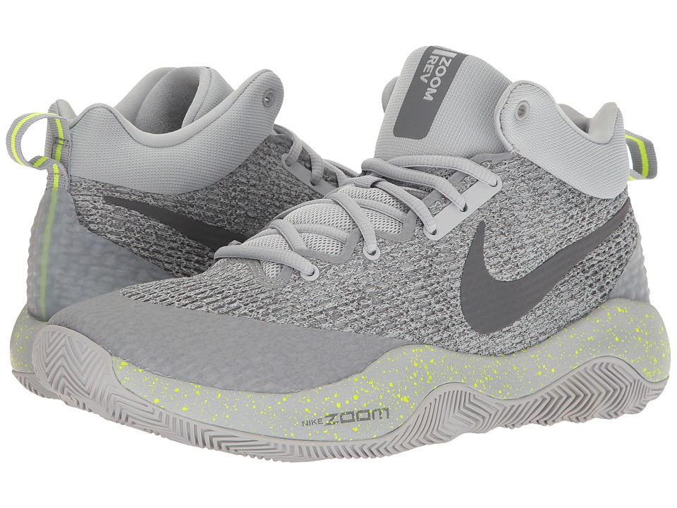 Nike - Zoom Rev 2017 (Wolf Grey/Dark Grey/Cool Grey/Volt) Men's Basketball Shoes
