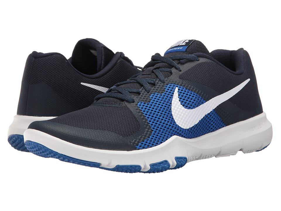 Nike - Flex Control (Obsidian/White/Hyper Cobalt) Men's Cross Training Shoes