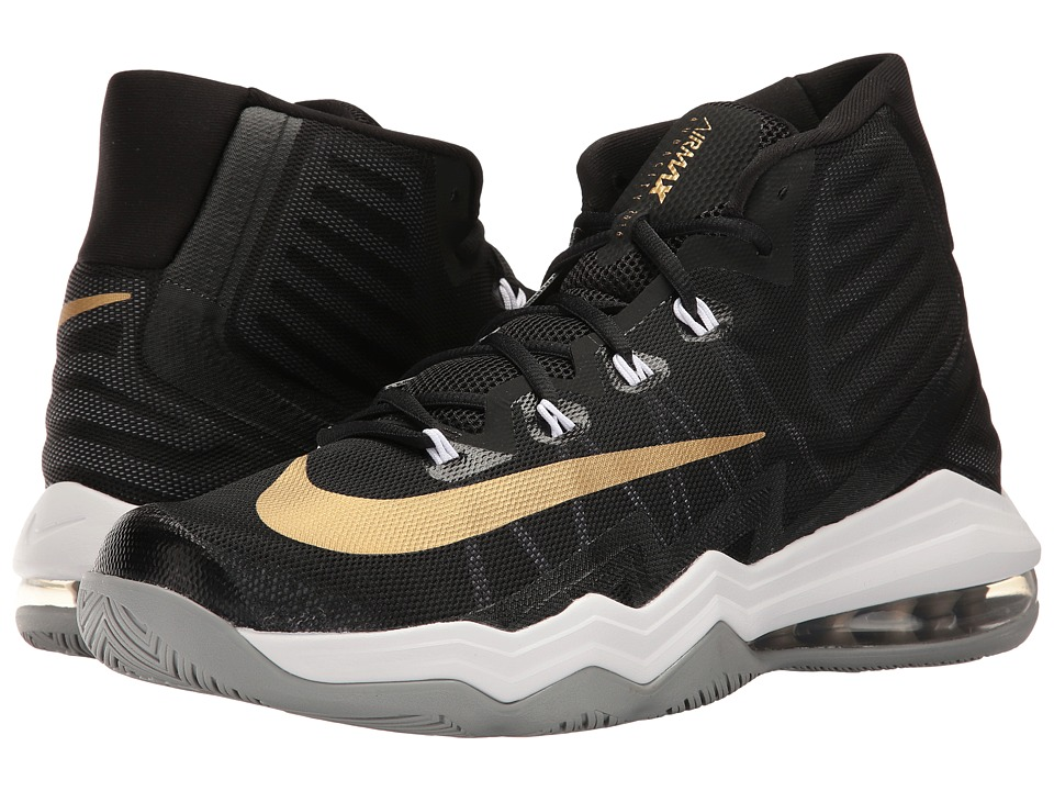 Nike - Air Max Audacity II (Black/Metallic Gold/Dark Grey/Wolf Grey) Men's Basketball Shoes