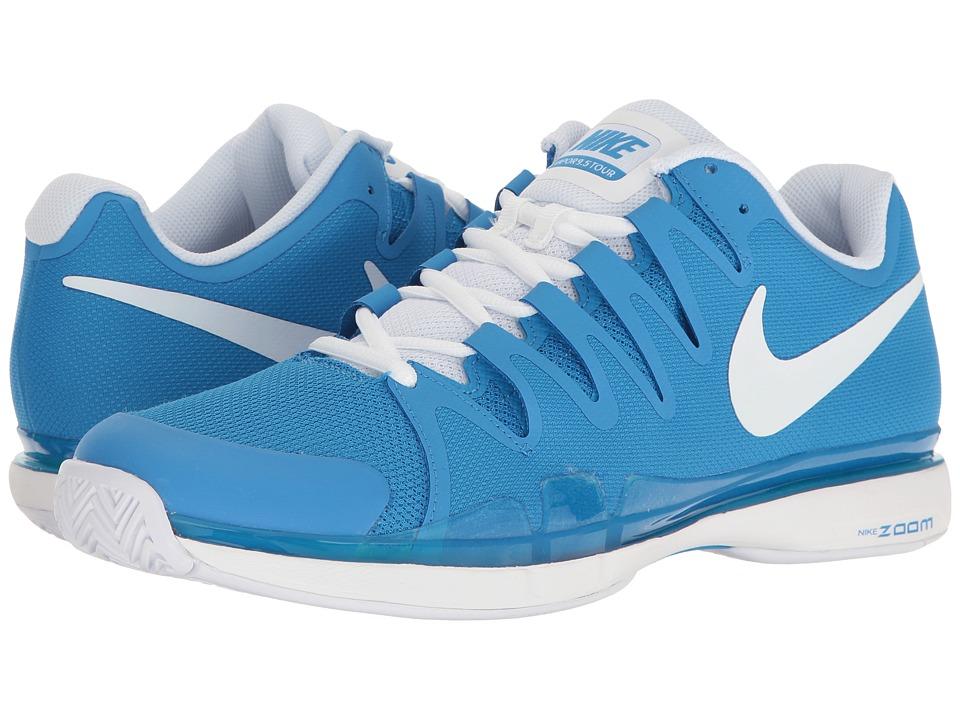 Nike - Zoom Vapor 9.5 Tour (Light Photo Blue/White) Men's Tennis Shoes