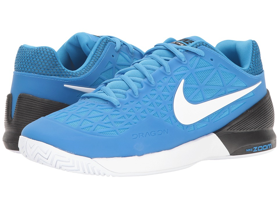 Nike - Zoom Cage 2 (Light Photo Blue/White/Black) Men's Tennis Shoes