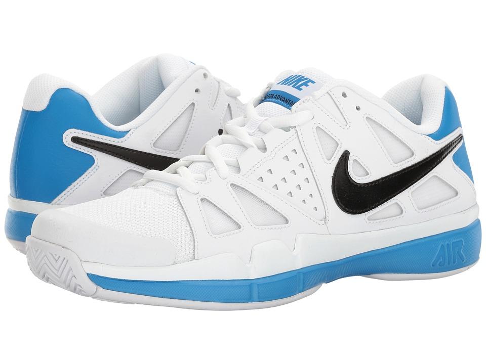 Nike - Air Vapor Advantage (White/Black/Light Photo Blue) Men's Tennis Shoes
