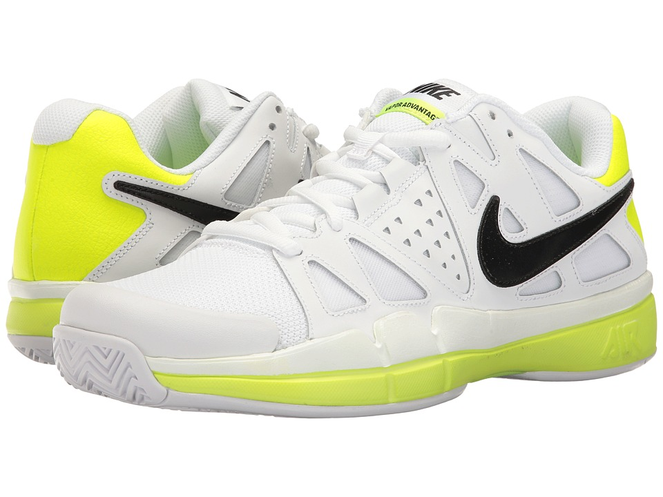Nike - Air Vapor Advantage (White/Black/Volt) Men's Tennis Shoes