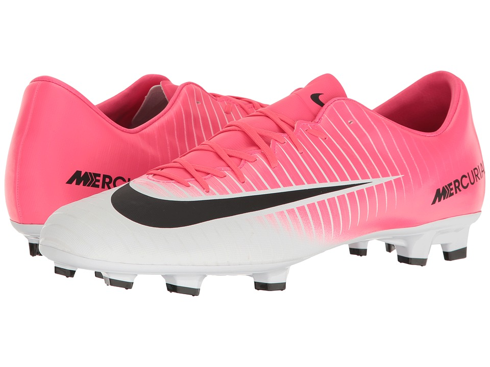 Nike - Mercurial Victory VI FG (Racer Pink/Black/White) Men's Soccer Shoes