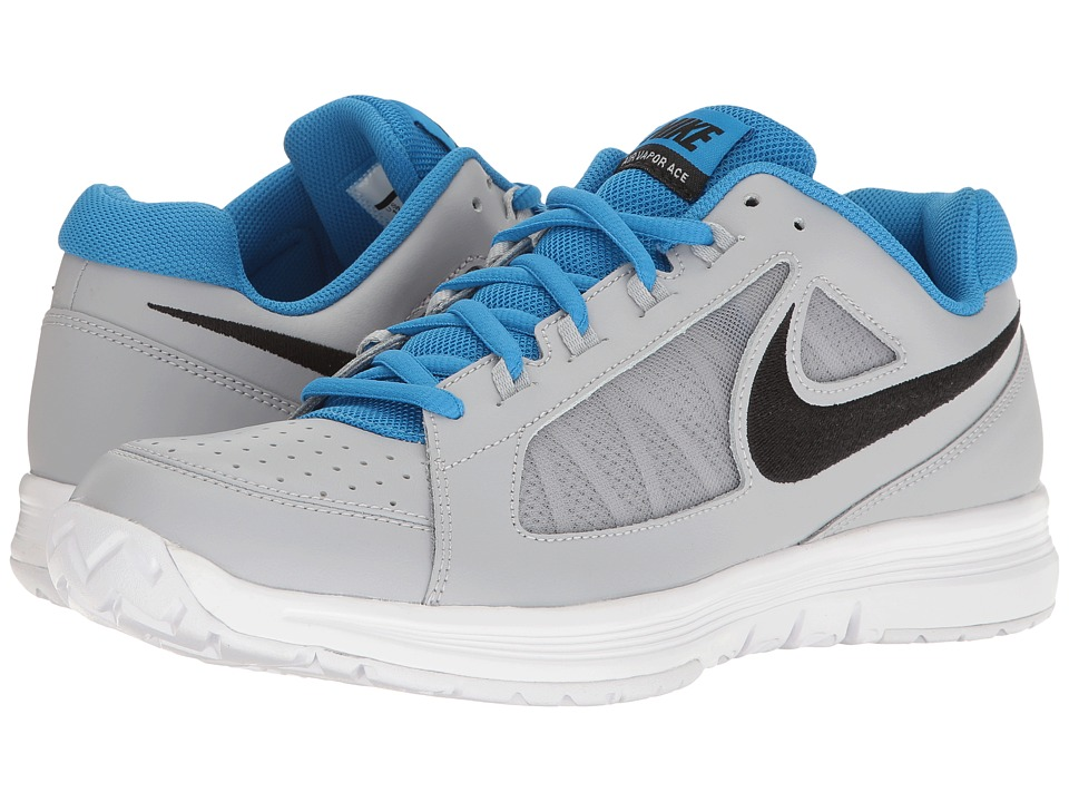 Nike - Air Vapor Ace (Wolf Grey/Black/Light Photo Blue/White) Men's Tennis Shoes
