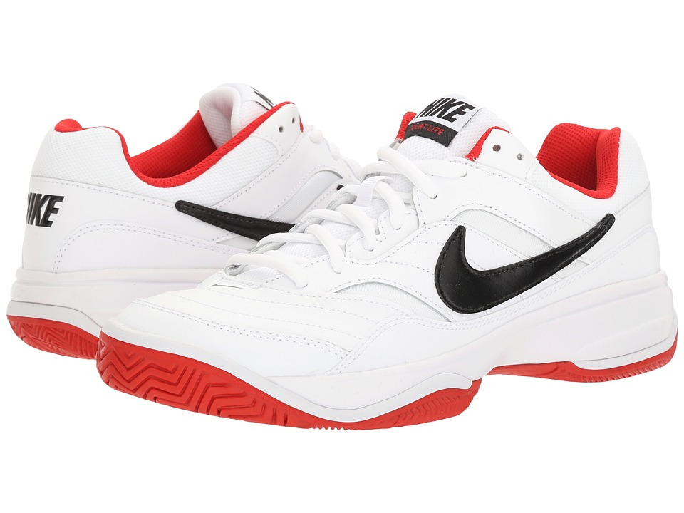 Nike - Court Lite (White/Black/University Red) Men's Tennis Shoes