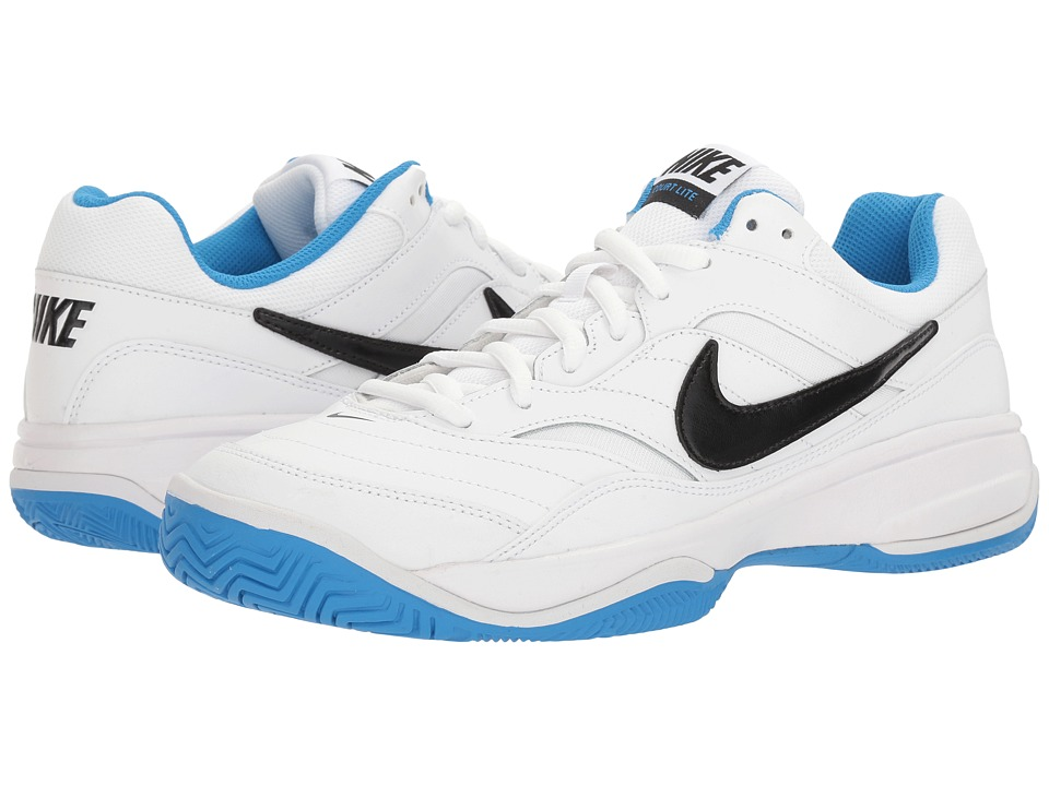 Nike - Court Lite (White/Black/Light Photo Blue) Men's Tennis Shoes