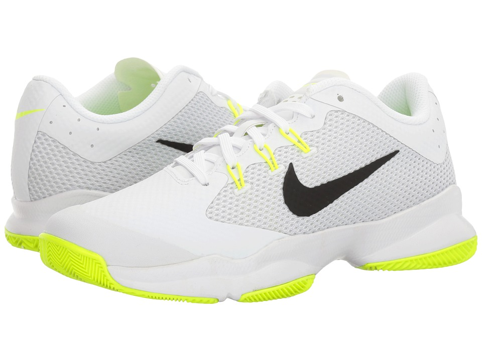 Nike - Air Zoom Ultra (White/Black/Volt/Pure Platinum) Women's Tennis Shoes