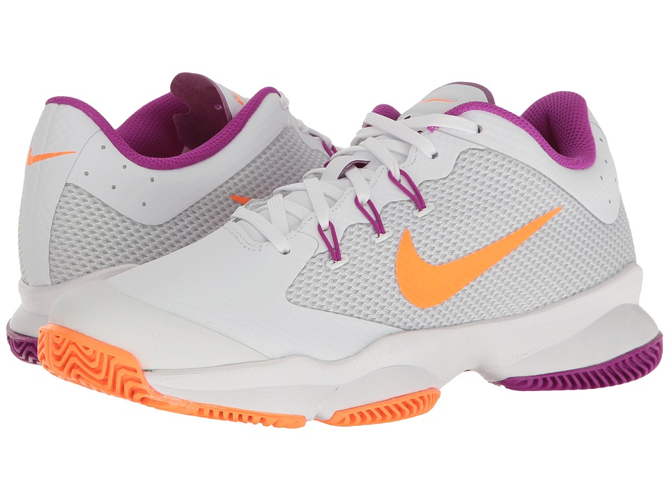 Nike - Air Zoom Ultra (White/Tart/Pure Platinum/Vivid Purple) Women's Tennis Shoes