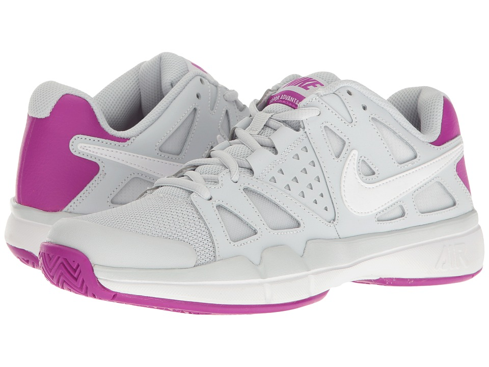 Nike - Air Vapor Advantage (Pure Platinum/White/Vivid Purple/White) Women's Tennis Shoes