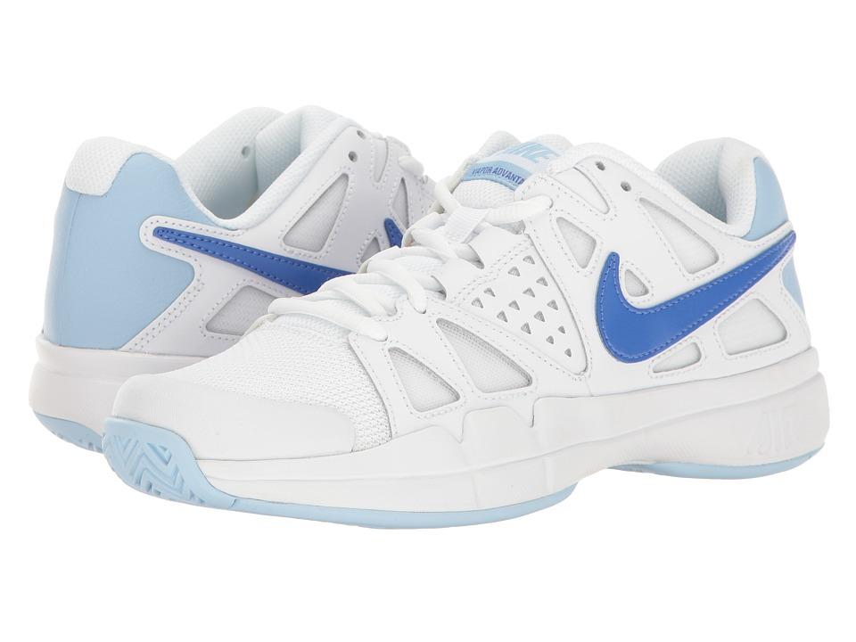 Nike - Air Vapor Advantage (White/Comet Blue/Ice Blue) Women's Tennis Shoes