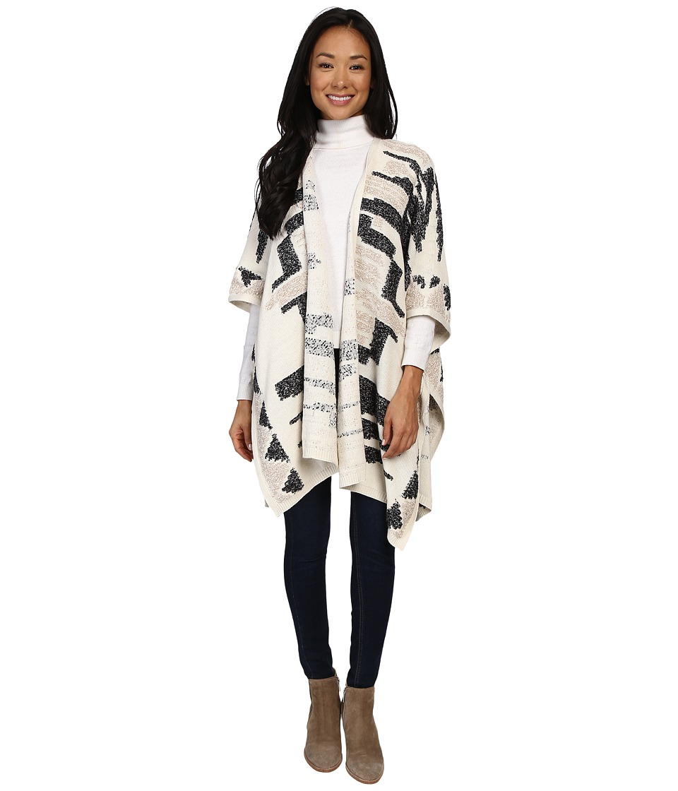 Lucky Brand - Santa Fe Poncho (Natural Multi) Women's Coat