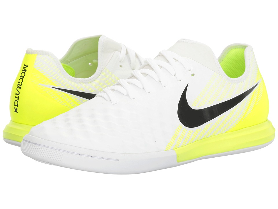 Nike - Magistax Finale II IC (White/Black/Volt) Men's Shoes