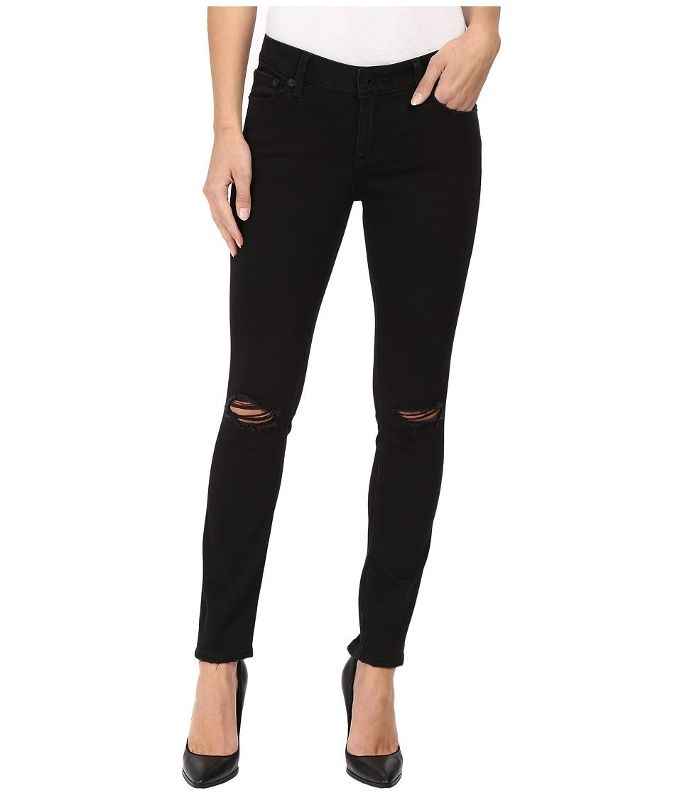 Lucky Brand - Lolita Skinny in Black Destructed (Black Destructed) Women's Jeans