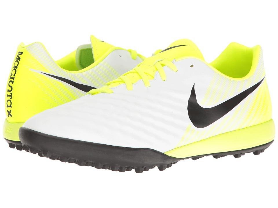Nike - Magista Onda II TF (White/Black/Volt/Pure Platinum) Men's Shoes