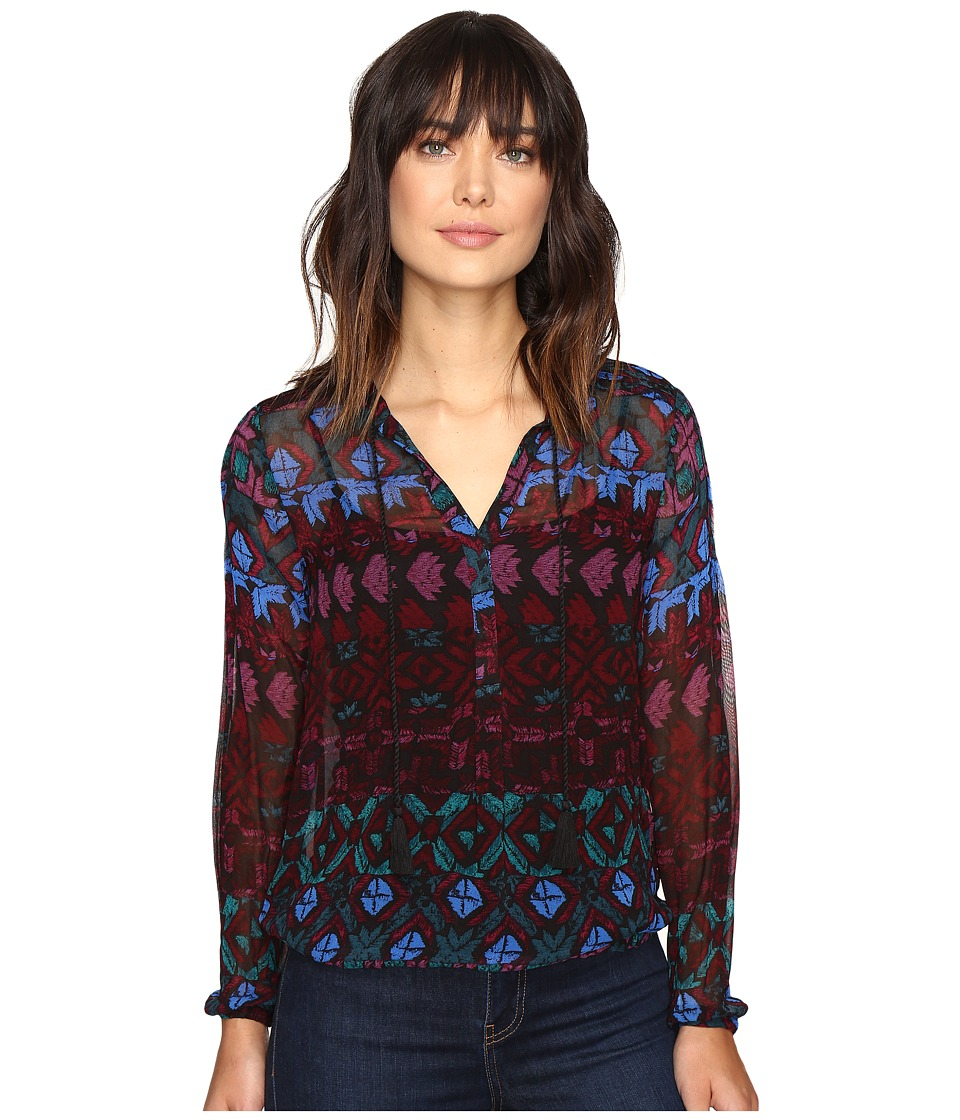 Lucky Brand - Vibrant Button Down (Black Multi) Women's Clothing