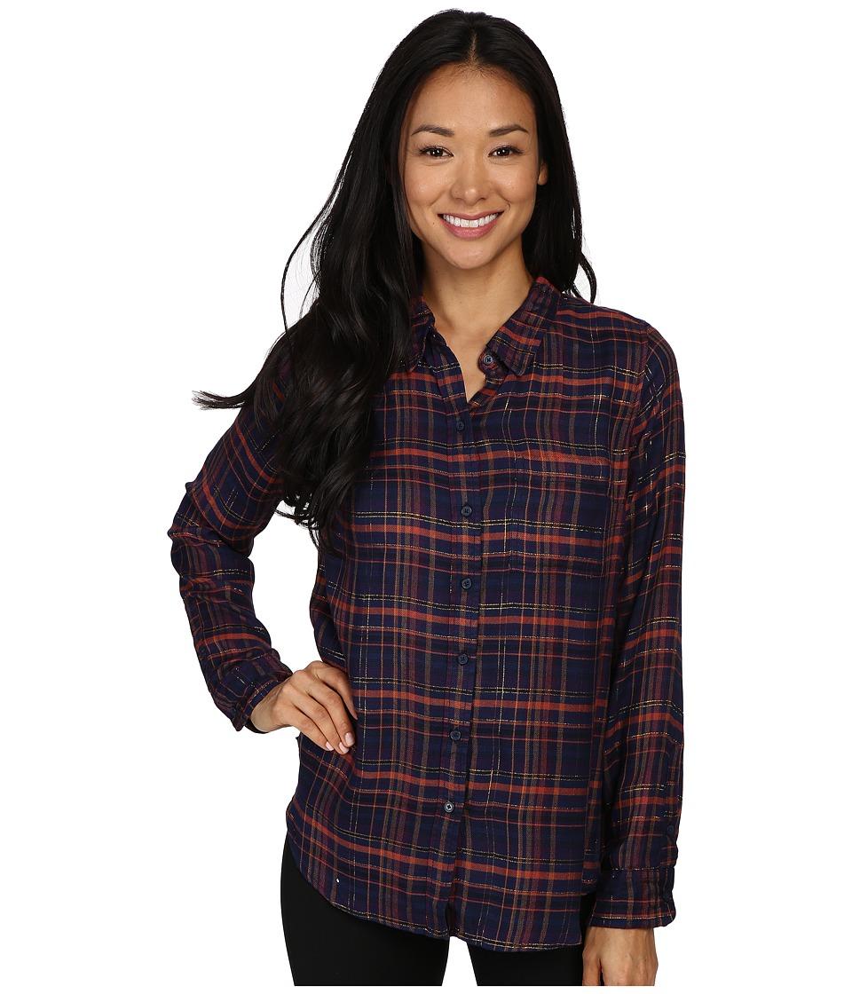 Lucky Brand - Back Overlay Shirt (Blue Multi) Women's Clothing