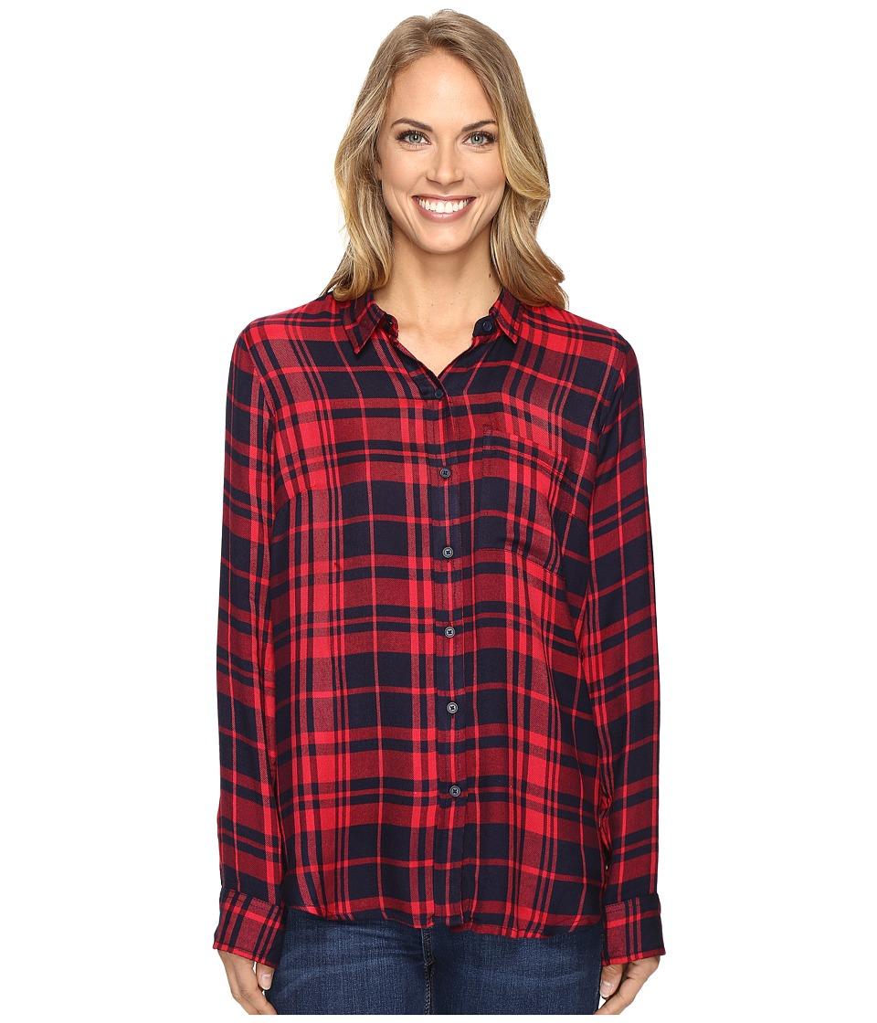 Lucky Brand - Back Overlay Shirt (Navy Multi) Women's Clothing