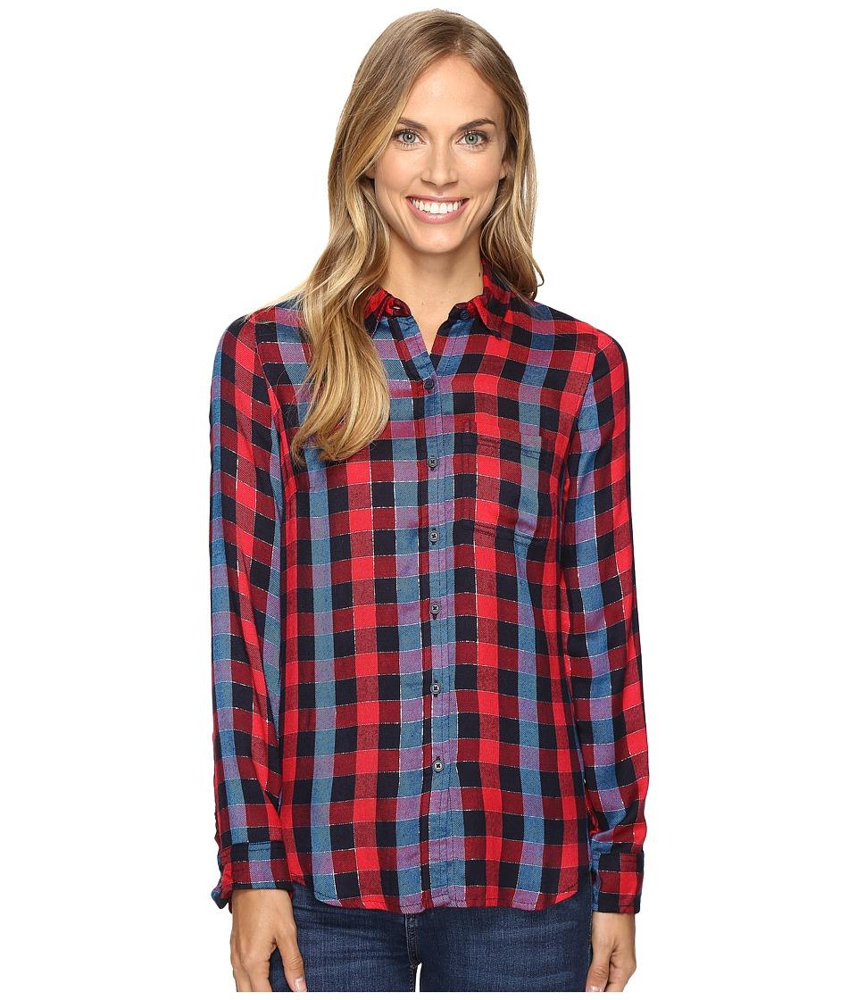 Lucky Brand - Back Overlay Shirt (Red Multi) Women's Clothing