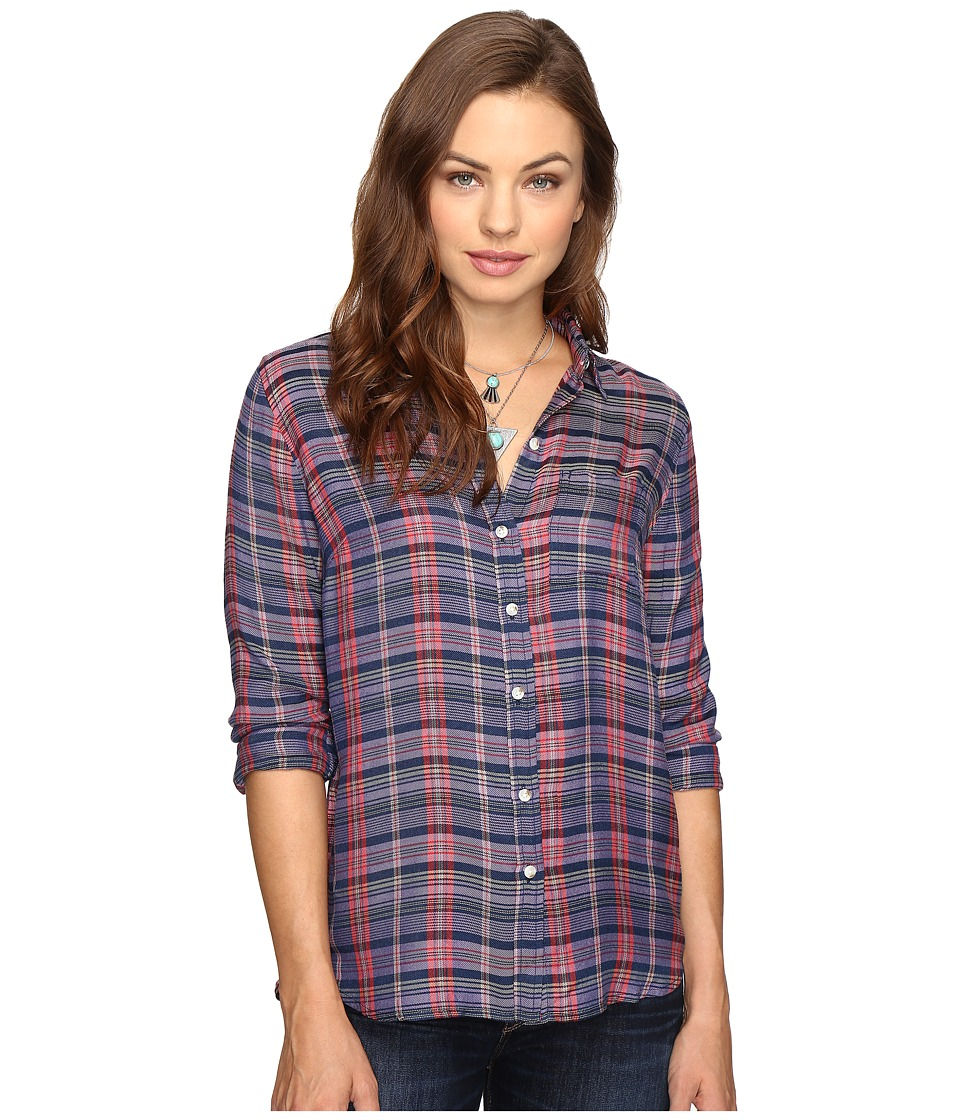 Lucky Brand - Back Overlay Shirt (Purple Multi) Women's Clothing