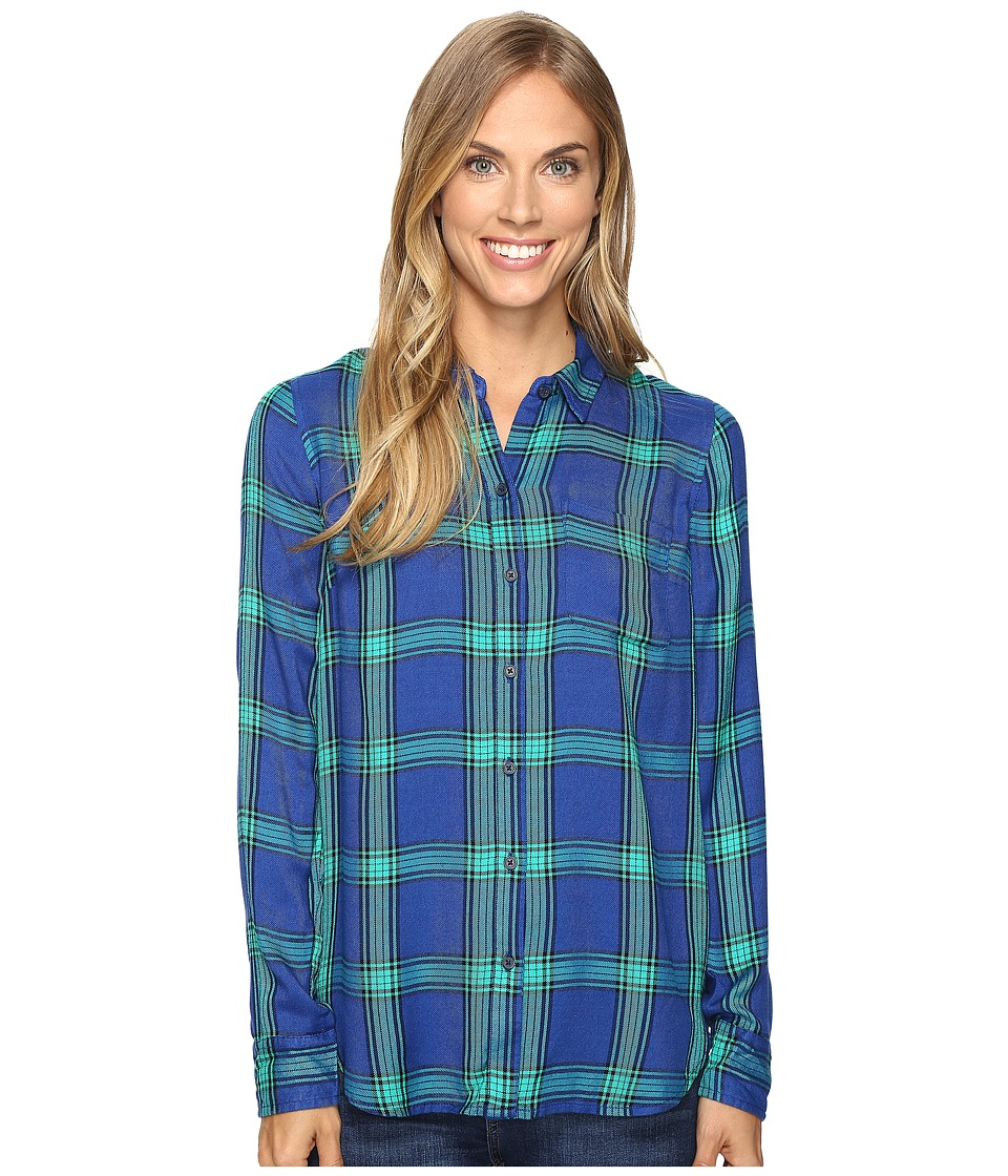 Lucky Brand - Button Side Shirt (Green Multi) Women's Clothing