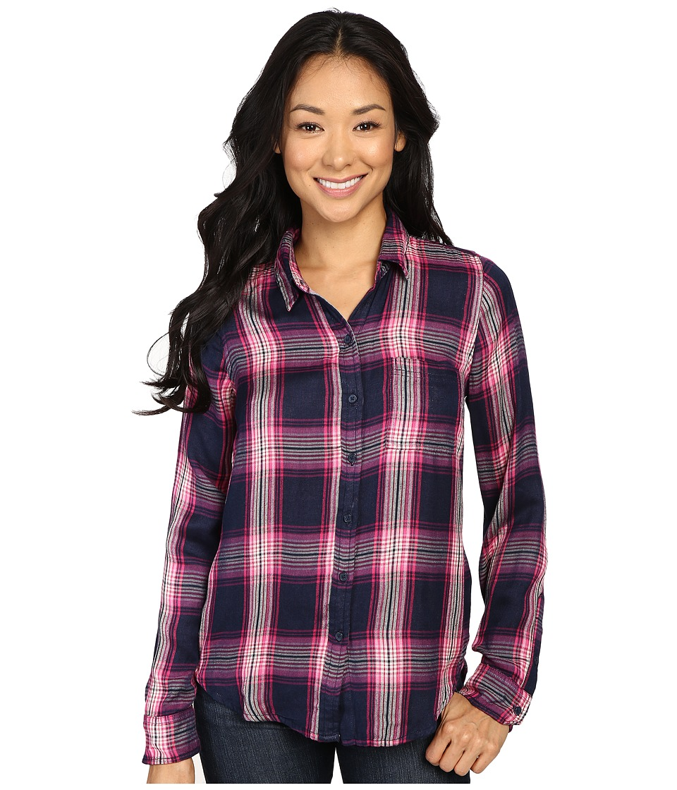 Lucky Brand - Duo Fold Plaid Shirt (Pink Multi) Women's Clothing