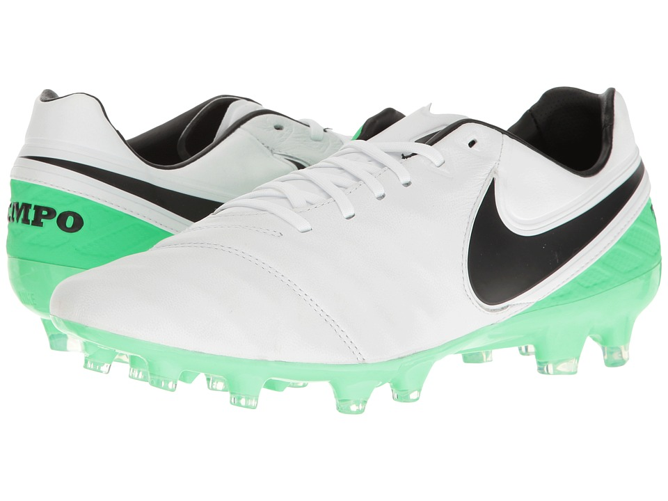 Nike - Tiempo Legacy II FG (White/Black/Electro Green) Men's Soccer Shoes