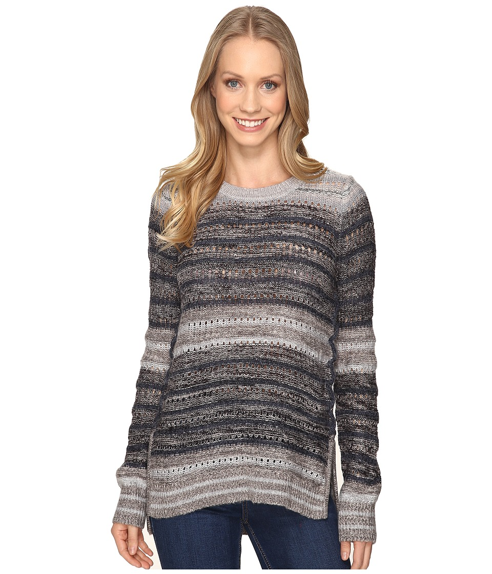 Lucky Brand - Striped Lace-Up Pullover (Multi Stripe) Women's Clothing
